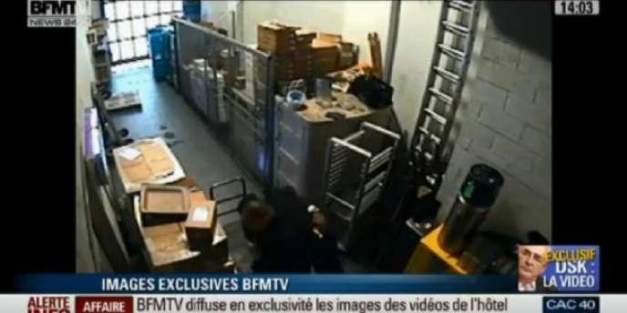 Image diffusée par BFM-TV, jeudi 8 décembre.