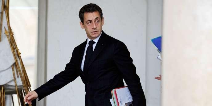 L'ancien président Nicolas Sarkozy, le 7 décembre 2011 à l'Elysée.