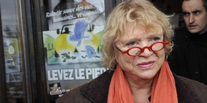 Eva Joly à Clermont-Ferrand, le 2 décembre 2011.
