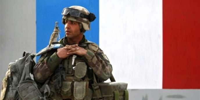 Un soldat français déployé en Afghanistan sous l'autorité de l'OTAN, le 15 décembre 2008.