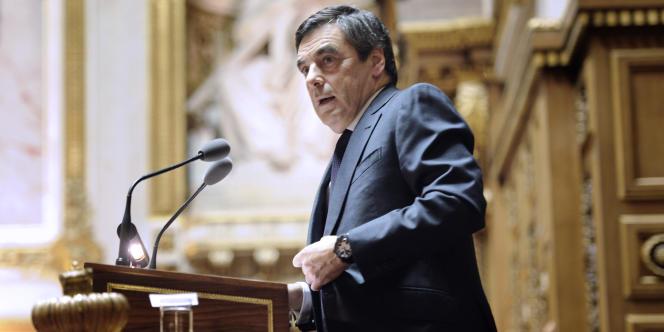 Le premier ministre François Fillon, au Sénat, le 8 décembre 2011.