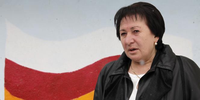 La candidate à l'élection présidentielle en Ossétie du Sud, Alla Djioeva, à Tskhinvali, le 13 novembre 2011.