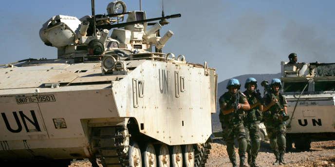 Des militaires français de la Finul à l'entraînement, en juillet 2009.