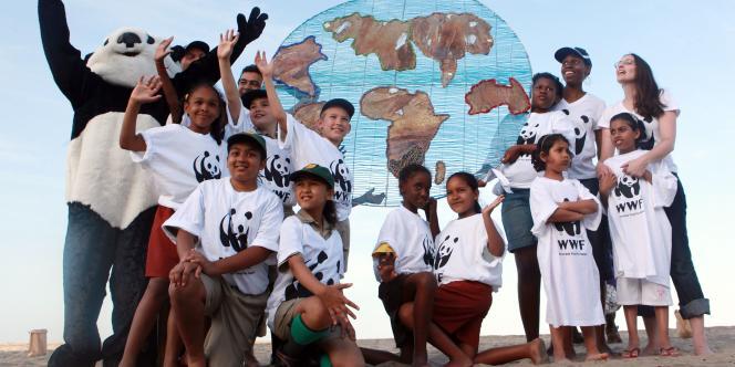 Une action de WWF en marge de Durban.