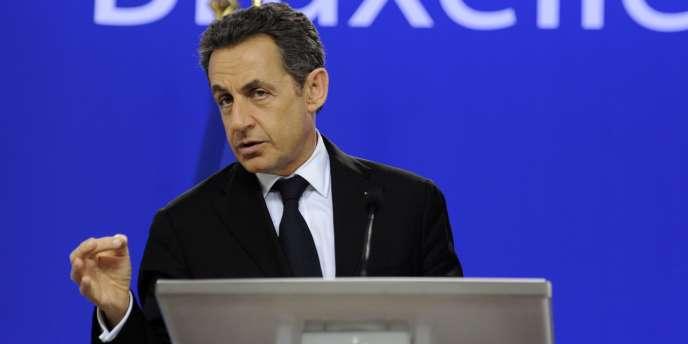 Nicolas Sarkozy à Bruxelles, le 9 décembre 2011