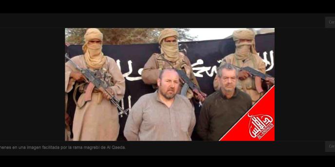 Les deux otages français, enlevés le 24 novembre au Mali. Capture d'écran du site d'