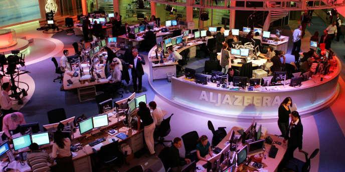 Dans les locaux de la rédaction anglophone d'Al-Jazira à Doha, le 14 novembre 2006.