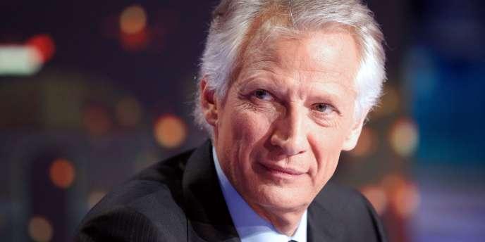 Dominique de Villepin sur TF1 le 11 décembre, lors de l'annonce de sa candidature à l'élection présidentielle.