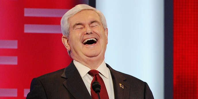 Newt Gingrich, candidat à l'investiture républicaine, lors d'un débat à Des Moines, le 10 décembre.