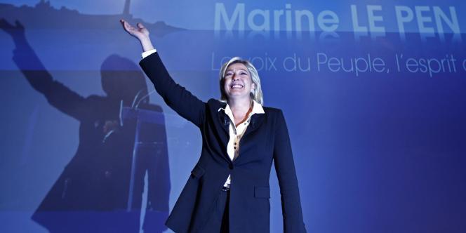 Marine Le Pen lors de son meeting à Metz, le 11 décembre.