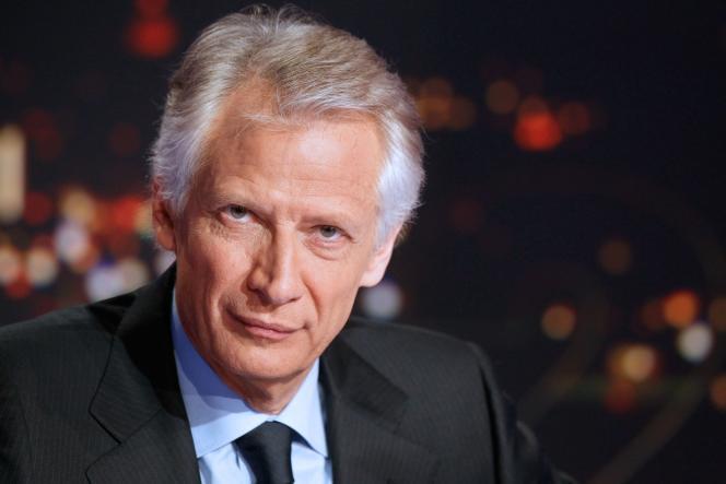 Dominique de Villepin, en décembre2011, sur le plateau de TF1.
