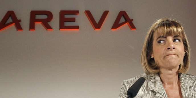 Anne Lauvergeon, en mars 2010, alors qu'elle était présidente d'Areva.
