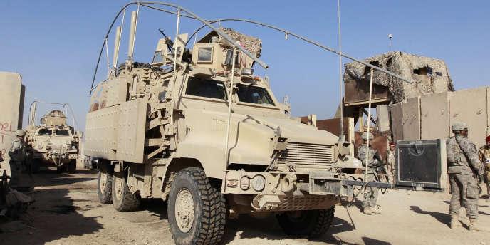 Des militaires américains dans une base au sud de Bagdad, le 11 décembre.