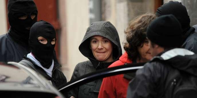 Intza Oxandabadatz lors de son arrestation mardi 13 décembre 2011.