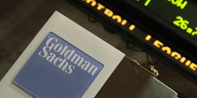 Un panneau Goldman Sachs à la Bourse de New York, en 2010.
