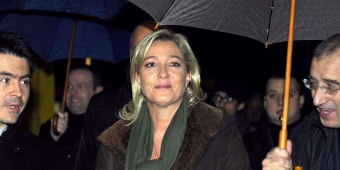 Marine Le Pen, à Boulogne-sur-Mer (Pas-de-Calais), le 14 décembre.