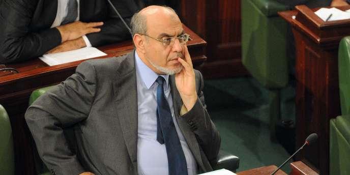 Hamadi Jebali, le 8 décembre, à l'Assemblée constituante, à Tunis.