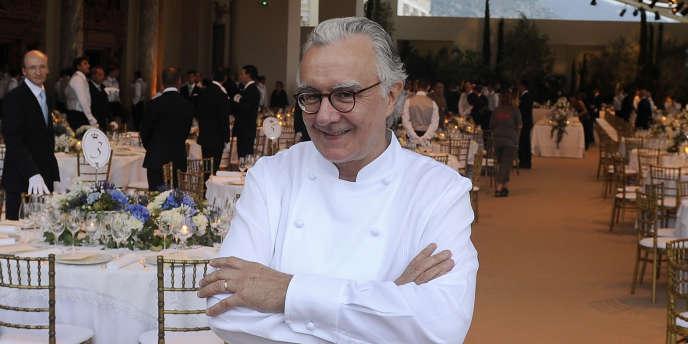 Le chef Alain Ducasse à Monaco en juillet 2011.