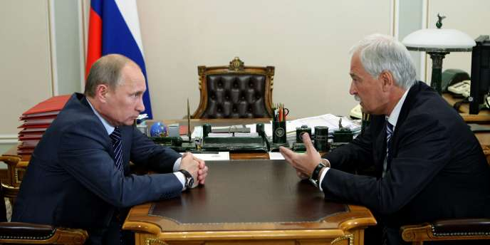 Vladimir Poutine et le président de la Douma, la Chambre basse du Parlement russe, Boris Gryzlov, le 13 juillet 2011, à Moscou.
