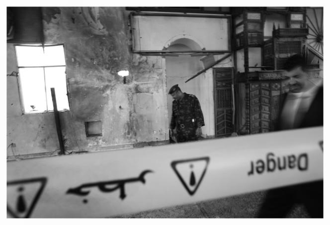 La mosquée présidentielle où a explosé une bombe lors de la prière, le 3 juin.