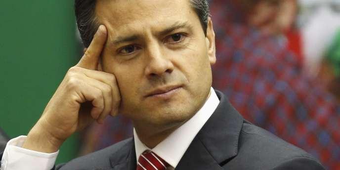 Enrique Pena Nieto, le 23 novembre 2011 lors d'une conférence à Mexico City.