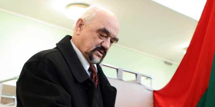 Igor Smirnov, l'homme qui se retrouve à la tête du pouvoir depuis vingt ans de la Transnistrie, n'effectuera pas un cinquième mandat - ici, le 11 décembre 2011 à Tiraspol.