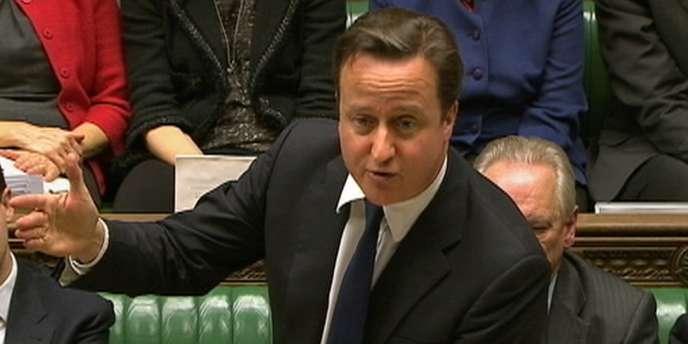 Le premier ministre britannique, David Cameron, lors d'un discours à Londres, le 14 décembre 2011.