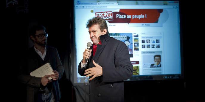 Jean-Luc Mélenchon à la présentation de sa web-série le 14 novembre à l'Usine du Front de Gauche