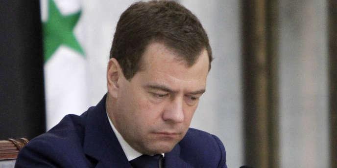 Dmitri Medvedev à Damas, le 11 mai 2010 lorsqu'il était président de la Russie.