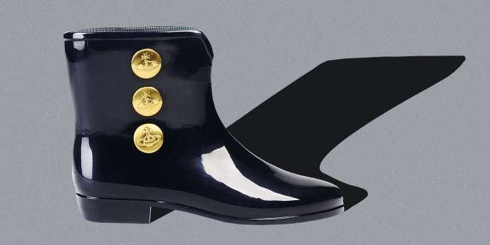 Le pied. Boots en PVC. Vivienne Westwood Anglomania + Melissa, en vente sur thecorner.com, 130 €.