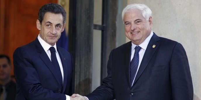 Nicolas Sarkozy a reçu Ricardo Martinelli, président du Panama, le 17 novembre à Paris.
