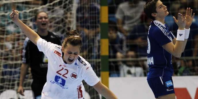 La Norvège exulte après sa victoire contre la France en finale des Mondiaux.