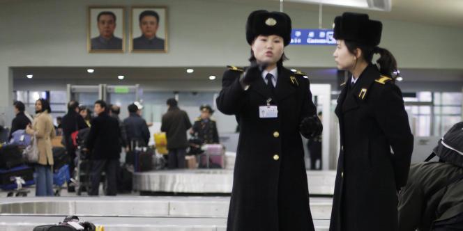 A l'aéroport de Pyongyang, lundi 19 septembre.