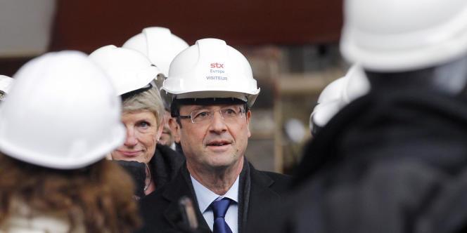 François Hollande visite les chantiers