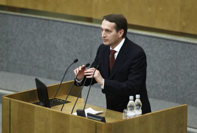 Sergueï Narychkine, président de la Douma.