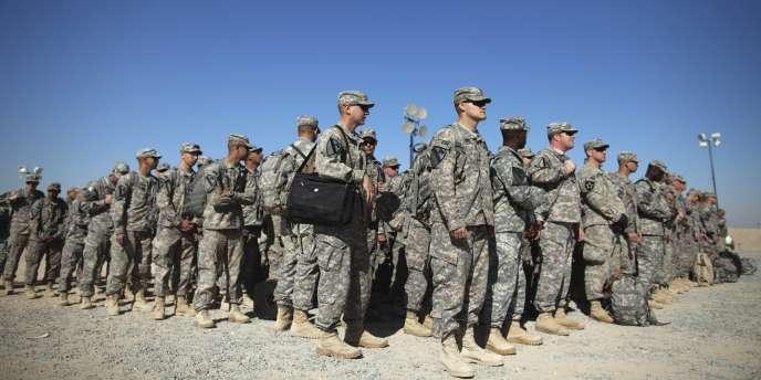 Soldats américains quittant l'Irak, 2011.