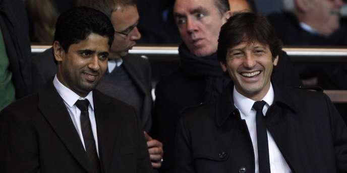 Nasser Al-Khelaïfi et Leonardo, président et directeur sportif du PSG.