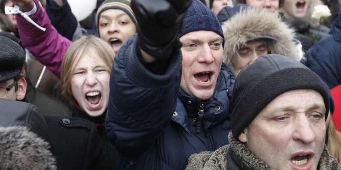 Des manifestants à Moscou le 24 décembre.