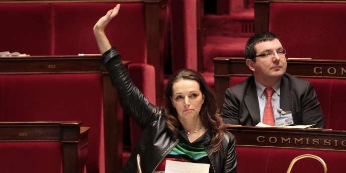 Valérie Boyer, vice-présidente du groupe d'amitié France-Arménie, lors du vote de son texte à l'Assemblée, jeudi.