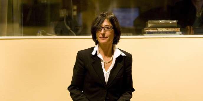 Florence Hartmann devant la CPIY en octobre 2008.