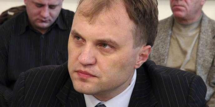 L'ancien chef du parlement Evgueni Chevtchouk, vainqueur de l'élection présidentielle en Transnistrie, région séparatiste de la Moldavie, le 26 décembre.