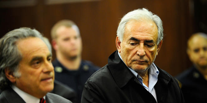 Dominique Strauss-Kahn et son avocat  Benjamin Brafman, le 16 mai 2011, à New York.