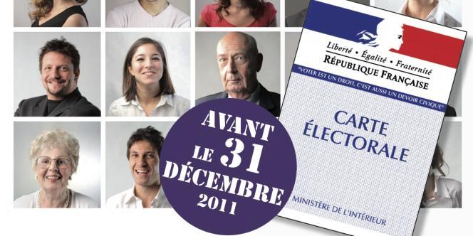 Campagne d'affichage du Cidem pour l'inscription sur les listes électorales en 2011.