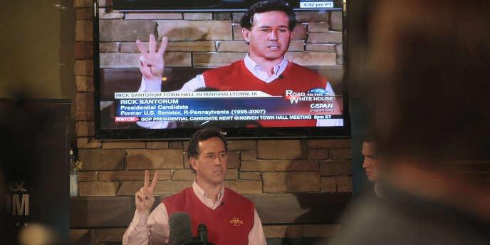 Rick Santorum en campagne, à Marshalltown, Iowa, le 30 décembre 2011.
