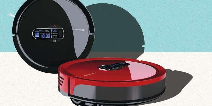 Robot aspirateur E-zicom, à partir de 300 euros.
