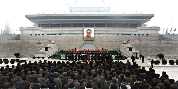 Hommage à Kim Jong-il, à Pyongyang, le 1er janvier 2011.