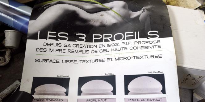 Documents commerciaux de la société Poly Implant Prothese (PIP) à La Seyne-sur-Mer, le 30 décembre 2011.