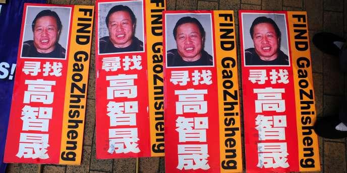 Manifestation en faveur de Gao Zhisheng, à Hongkong, le 18 décembre 2011.