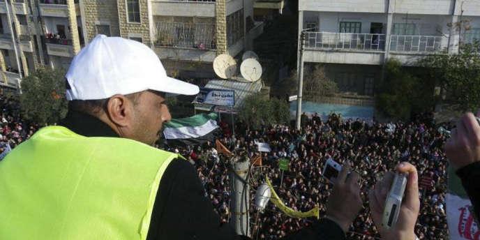 Un observateur de la ligue arabe en Syrie, le 30 décembre 2011.