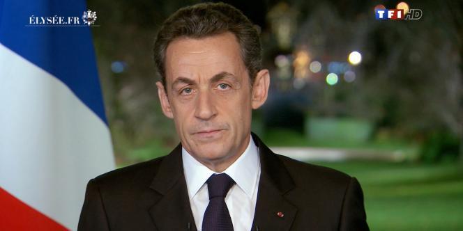 Lors de ses vœux du 31 décembre Nicolas Sarkozy avait déclaré :